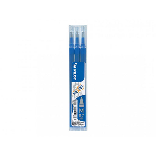 PILOT Set Da 3 Refill 0,7mm Per Penne Cancellabili Frixion Ball Blu - 006657