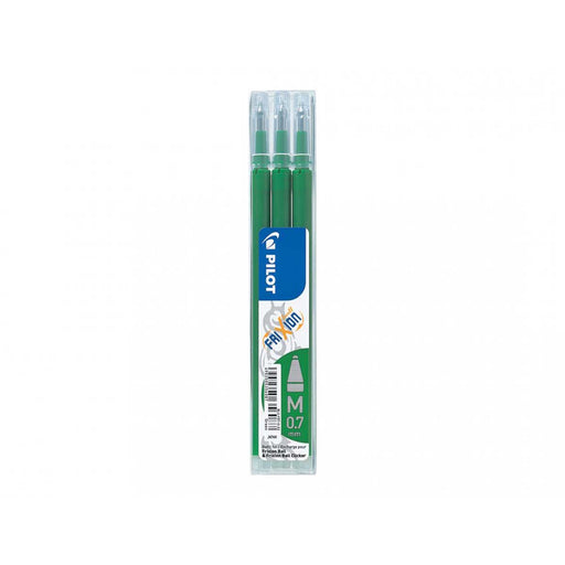 PILOT Set Da 3 Refill 0,7mm Per Penne Cancellabili Frixion Ball Verde - 006659