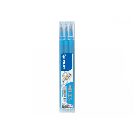 PILOT Set Da 3 refill 0,7mm Per Penne Cancellabili Frixion Ball Azzurro - 6479