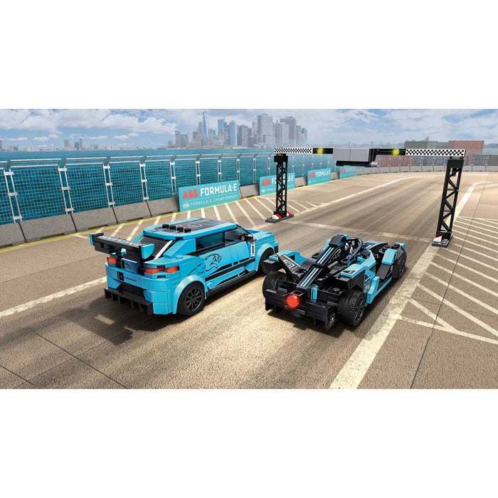 LEGO Speed Champions Formula E Panasonic Jaguar Racing Gen2 Car & Jaguar I-Pace Etrophy - 76898