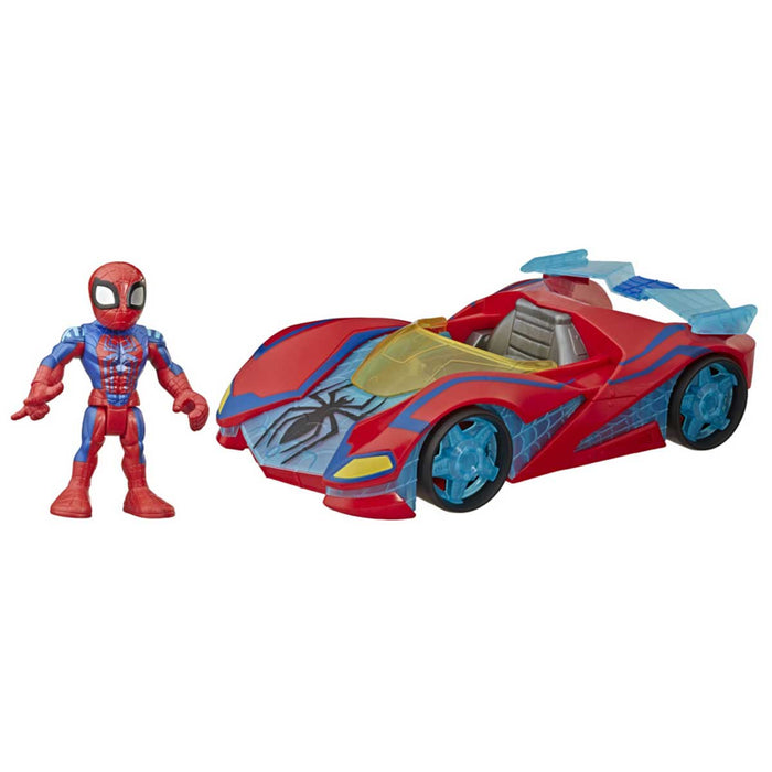 HASBRO Marvel Super Hero Adventures Mini Mighties con macchina - E6223