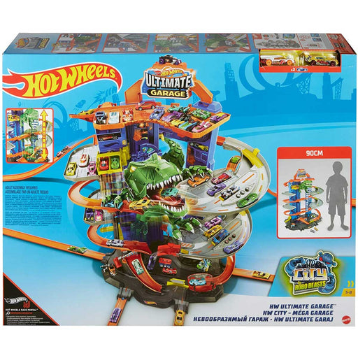 MATTEL Hot Wheels Ultimate Garage Assalto del T-Rex Robot Con 2 Macchinine Incluse - GJL14