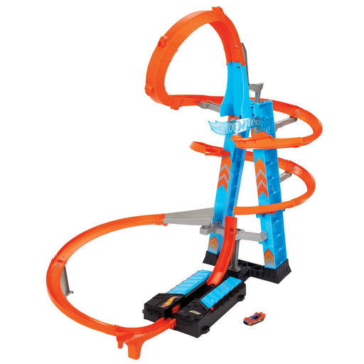 MATTEL ?Hot Wheels- Sky Crash Tower Pista Alta 60Cm Con Booster Motorizzato E Macchinina - GJM76