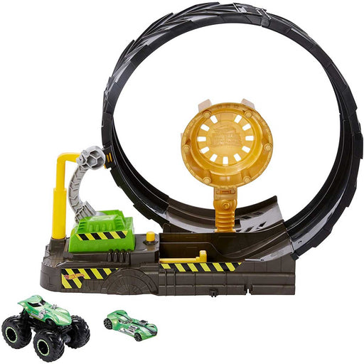 MATTEL - Hot Wheels Monster Truck ?Playset Sfida Nel Loop Con Truck E Macchinina, 4+ Anni - GKY00