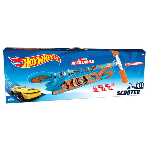 ODS Hot Wheels - Monopattino Cm 65, Freno Posteriore, Ripiegabile, 100% Acciaio - 42032