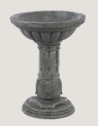 "A 21"" Reeded Bird Bath"