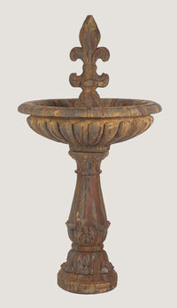 ASC Baroque Textured Fleur De Lis Fountain