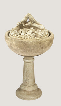 Bird Bowl Fountain On Pedestal