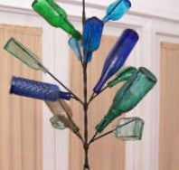 BC Iron Bottle Tree Hanging