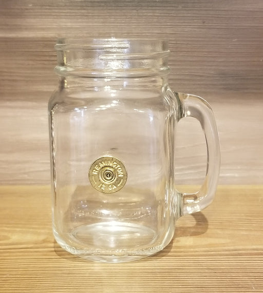 Mason Jar with Shot Gun Shell