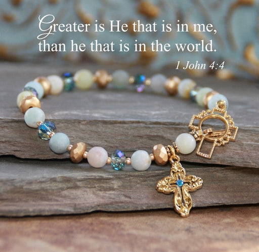 Greater Is He Bracelet