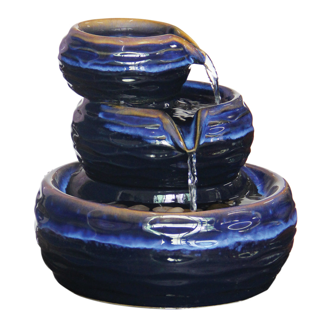 BC Tabletop Rippled Bowl Tiered fountain