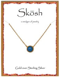 Skosh Small Natural Stone Pendent Necklace