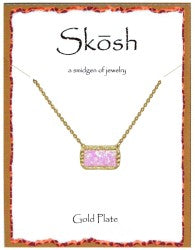 Skosh Faceted Pink Opal Necklace
