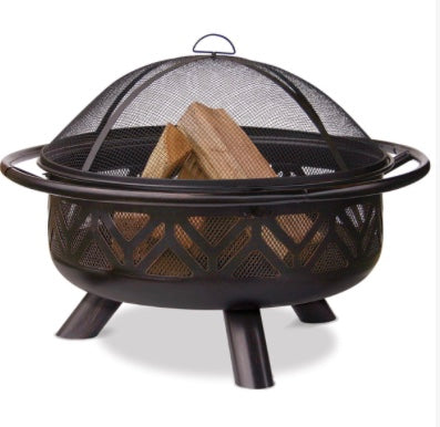 Mr. BBQ Firebowl With Cut Outs