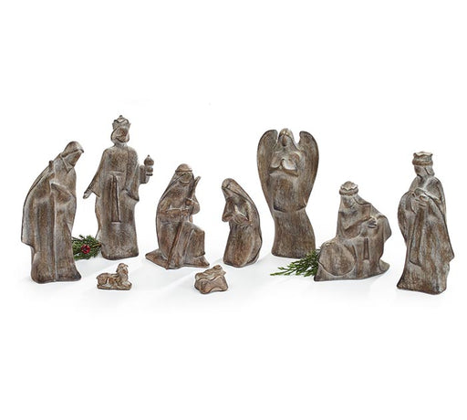 Nativity Resin Brown
