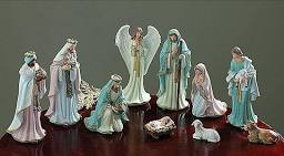 Burton And Burton Ten Piece Pastel Nativity Set