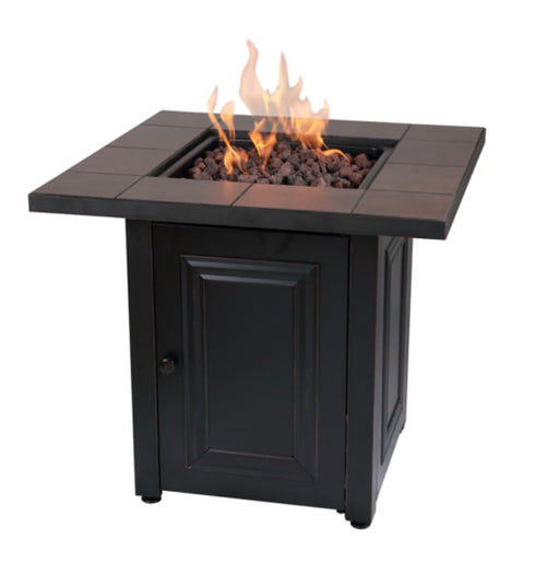 "Mr. BBQ 28"" Square Vanderbuilt Firepit With Ceramic Tile Mantel"