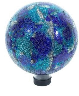 "EV 10"" Blue/Aqua Mosaic Gazing Ball"