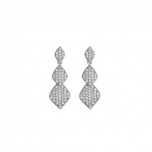 Kelly Waters BL 3 Graduating Diamond Shapes Post Earrings