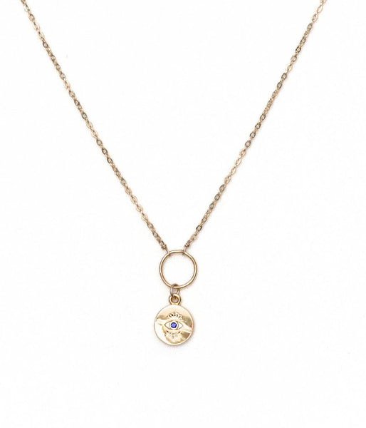 Eye On You Necklace Gold
