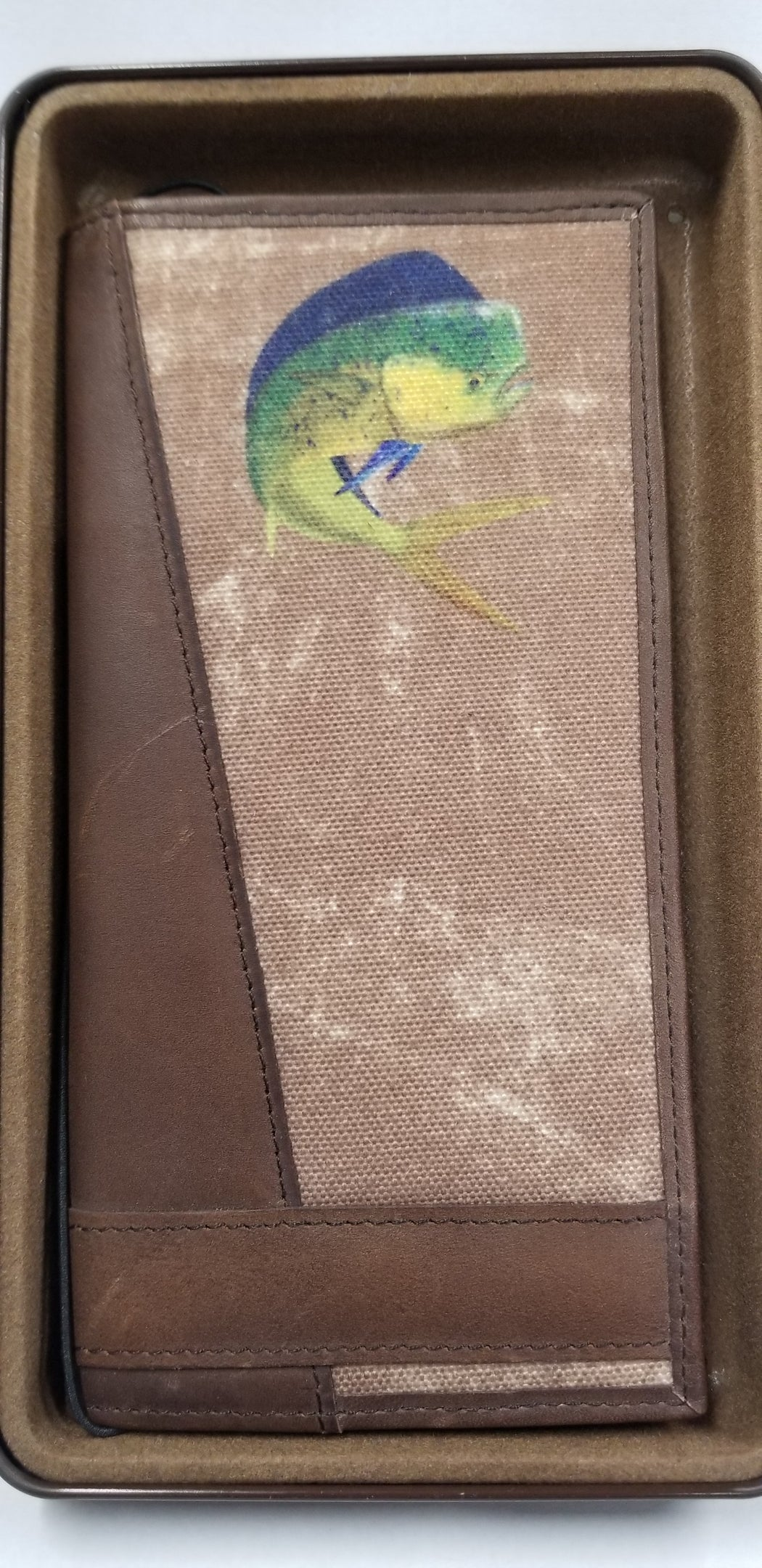 Zep-Pro Canvas Wallet With Mahi Mahi