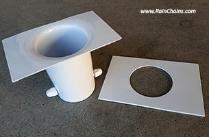 Rain Chain Installation Kit Aluminum White