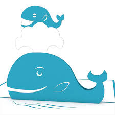 Lovepop Card Whale Family