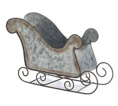 Burton And Burton Galvanized Tin Sled
