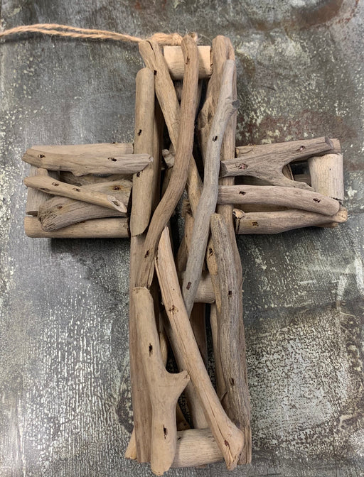 WS Driftwood Cross Ornament