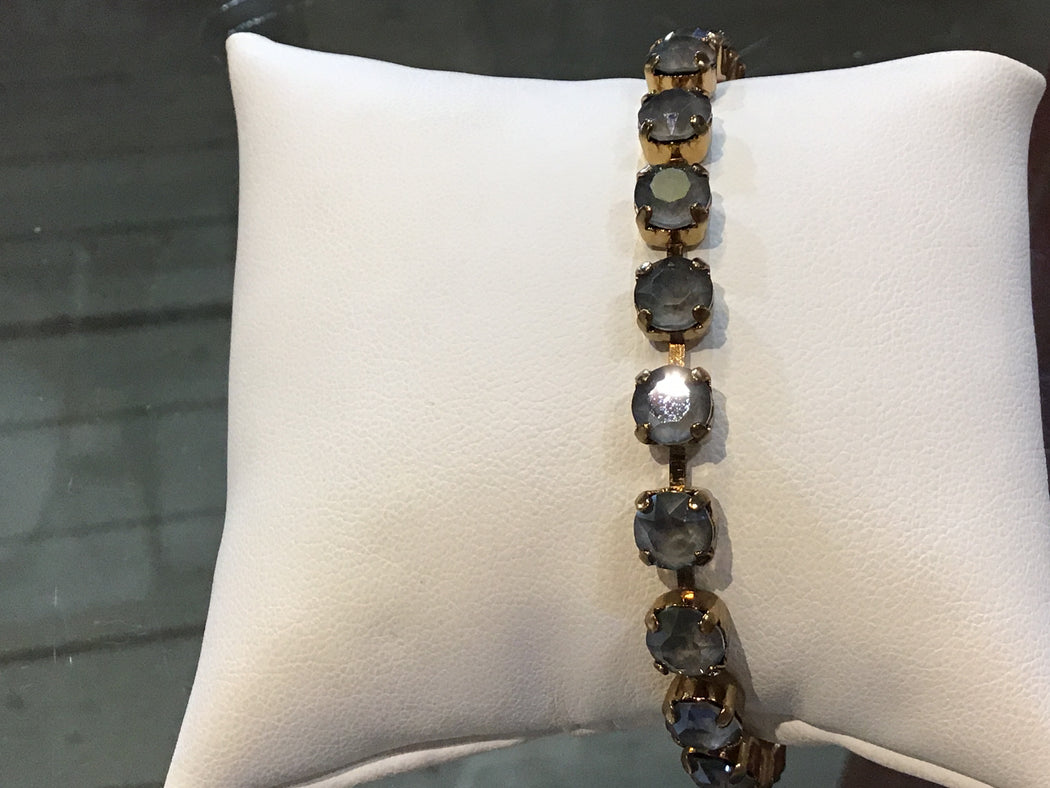 Mariana Gold Bracelet With Grey Swarovski Stones