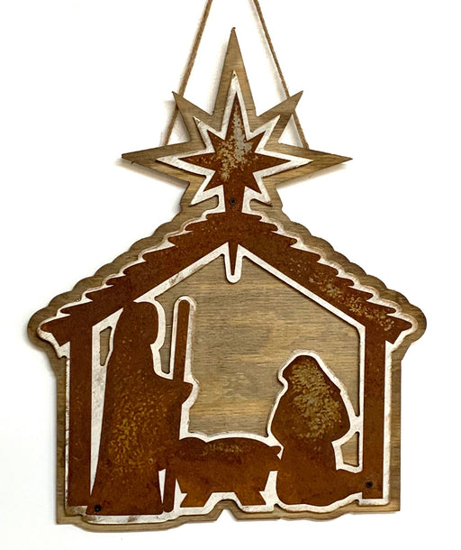 BB Nativity Door Hanger