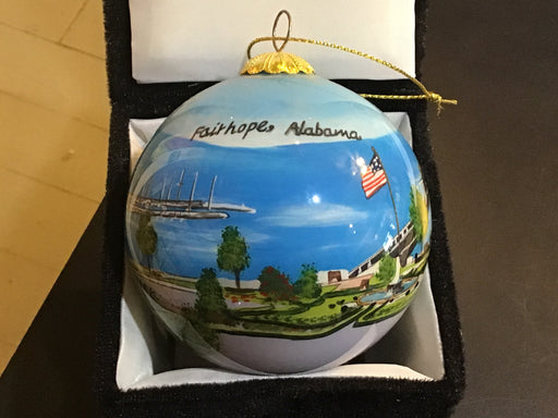 Fairhope Alabama Hand Painted Ornament