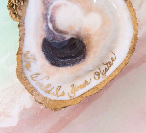 GG Oyster Shell With Inscription