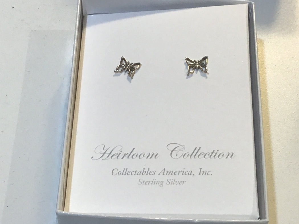 Stud Butterfly Earrings