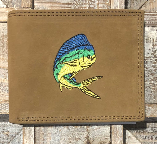Zep-Pro Crazy Horse Passcase Wallet With Dolphin