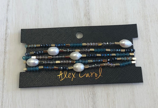 AC Blue Pearl Multi Stretch Bracelets