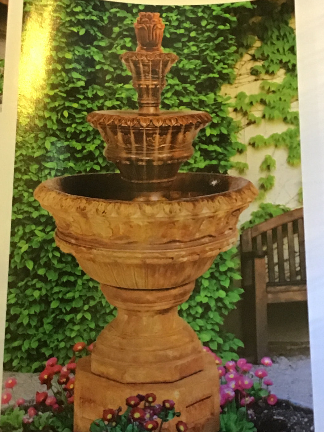 H Valencia Three Tier Fountain