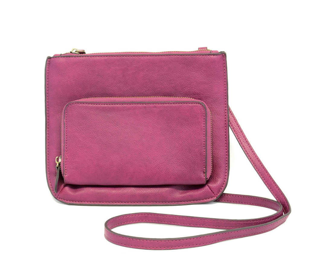 Joy Susan Crossbody With Exterior Zip Pocket