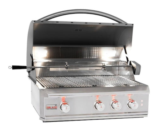 "Blaze Pro 34"" 3 Burner Built-In Nat Gas Grill W/Rear Infrared Burner"