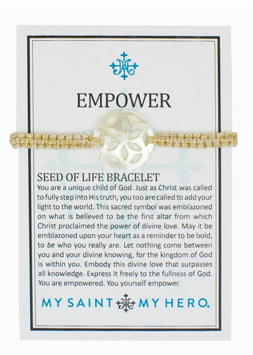 MSMH Empower Seed of Life Bracelet With MOP