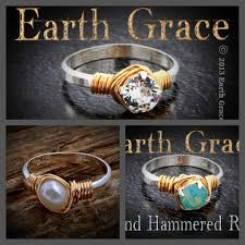 Earth Grace Hand Hammered Ring