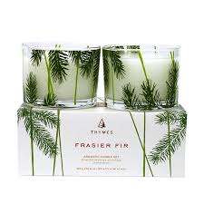 Thymes Frasier Fir Aromatic Candle Set