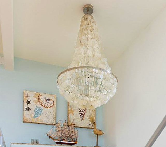 Kouboo Capiz Sea Shell Chandelier