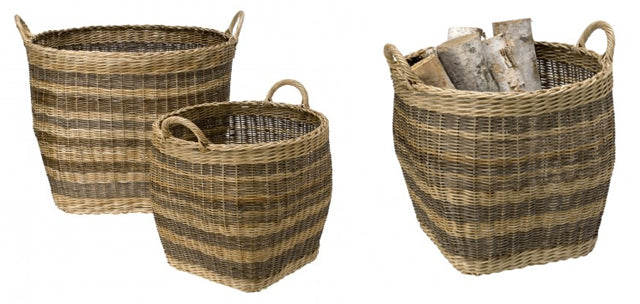 Open baskets are gorgeous to look at and a great way to organize everything from firewood to toys.
