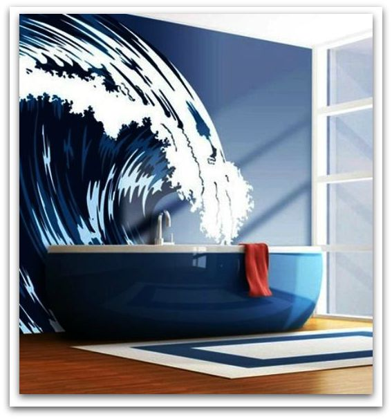 Make a splash with this wall mural.