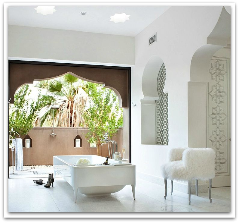 Indulge in an exotic Moroccan destination theme for your Master Bath get-away- GoldenSteinDesign
