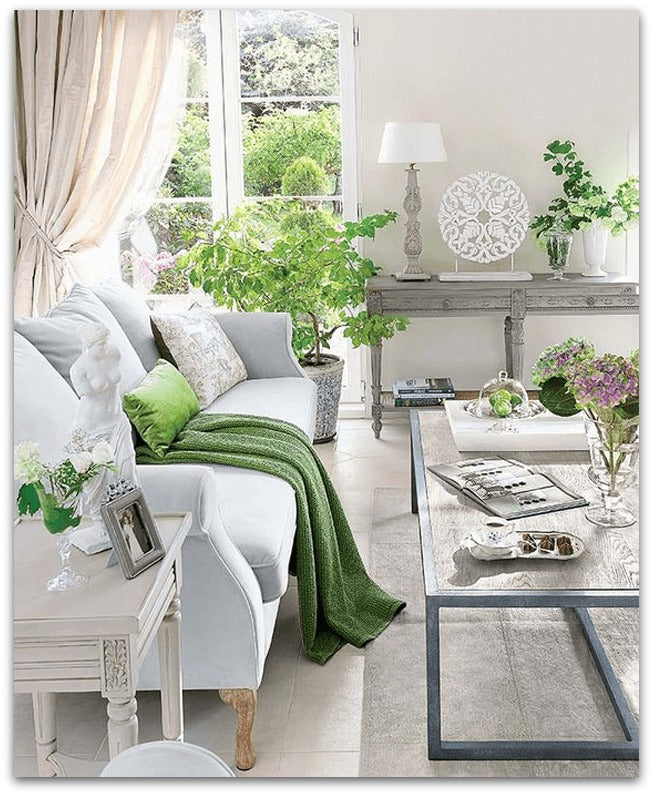 Pantone-2017-greenery-traditional-style-living-room-with-bright-green-accents-pantone-greenery