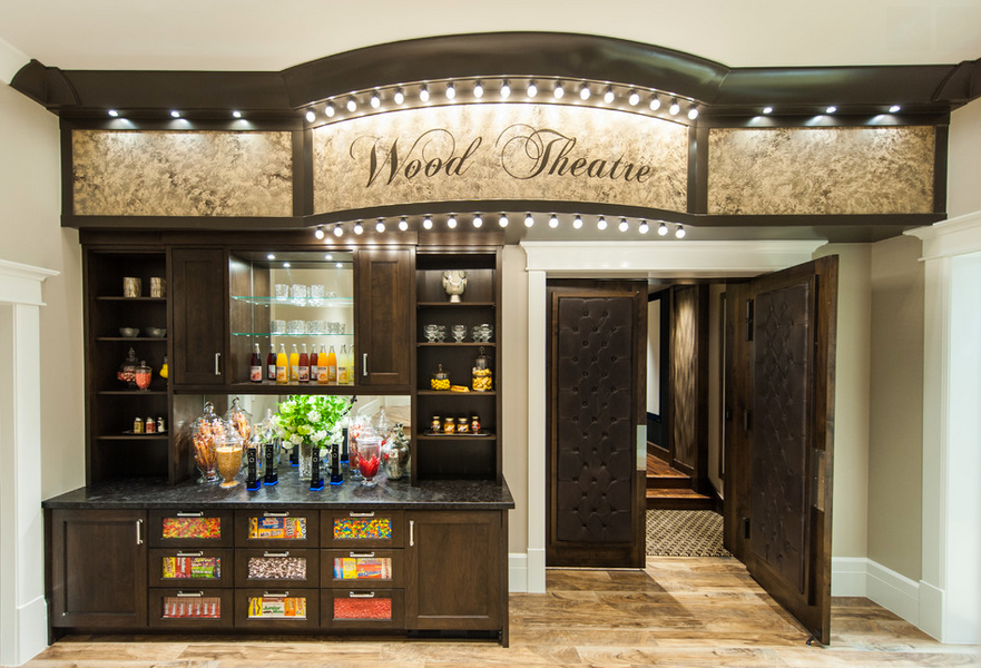 "Get your ""sweets on"" then head into your own home theatre by Mountain Cabinetry in Salt Lake City, Utah"