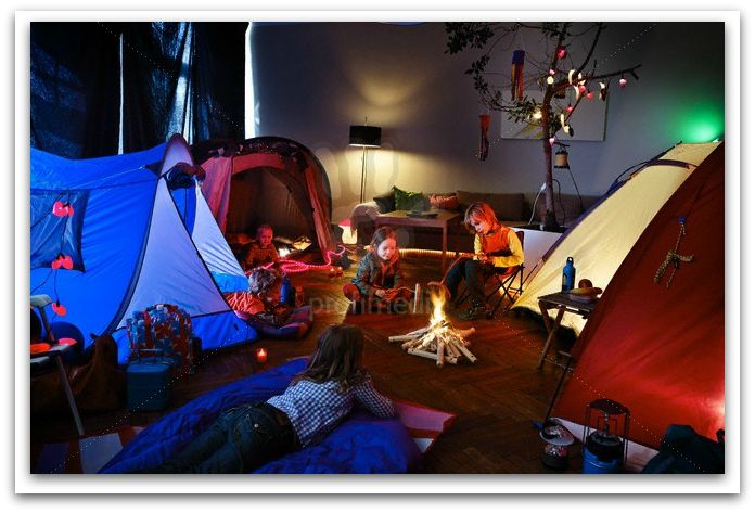 No matter the weather, kids can always camp indoors!